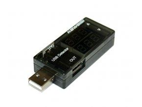USB Voltmetr Keweisi Dual 02
