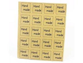 Samolepky Hand Made čtvereček hnědý 1