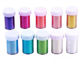Mica práškové barvy 10 odstínů