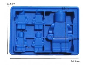 Silikonova forma 5 x Lego panáčci 01