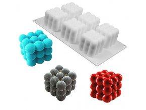 Set 6v1 silikonová forma Kuličkové krychle 2