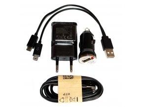 MAXI Power set 4v1 nabíječky s mini micro USB kabelem černé 01