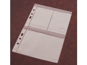 Folie na sběratelské karty a známky 3 kapsy
