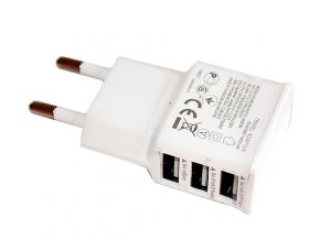 nabíječka na mobil 3 USB porty bílá 01