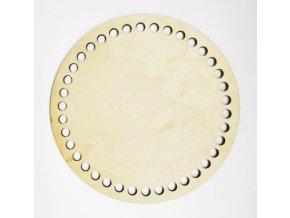 Vyřezávaný kruh podložka a dekorace 1