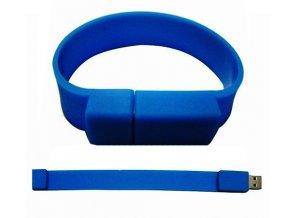 USB 8GB 3.0 flash disk náramek modrý
