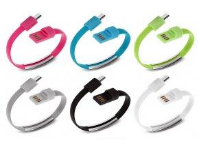 microUSB USB kabely náramky pro smartphony