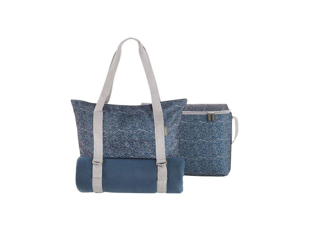 Meori modrá sada 3v1 - taška, pikniková deka & chladicí taška