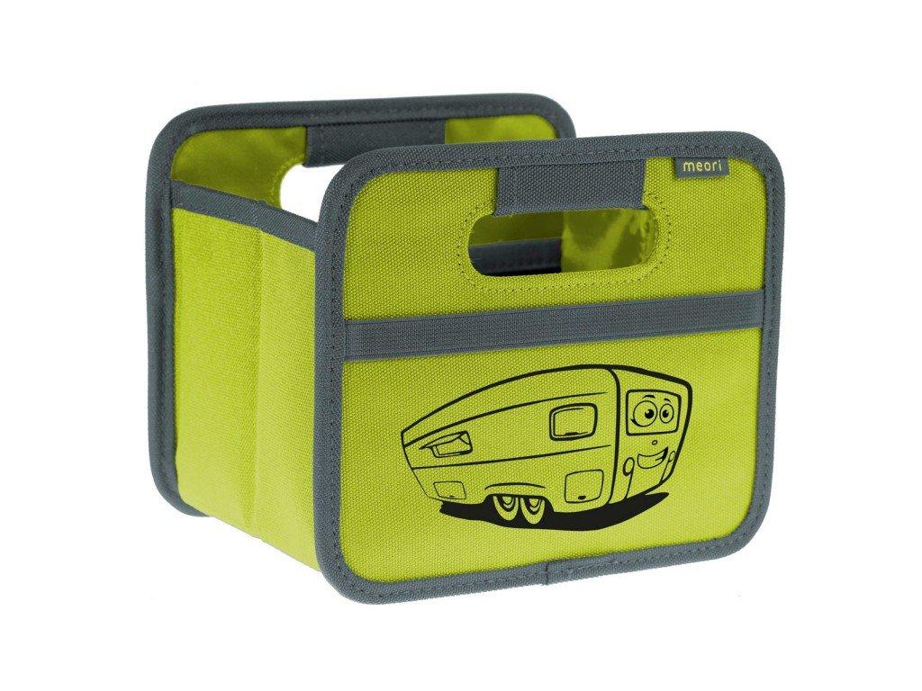 Meori skládací box Mini Caravan zelený