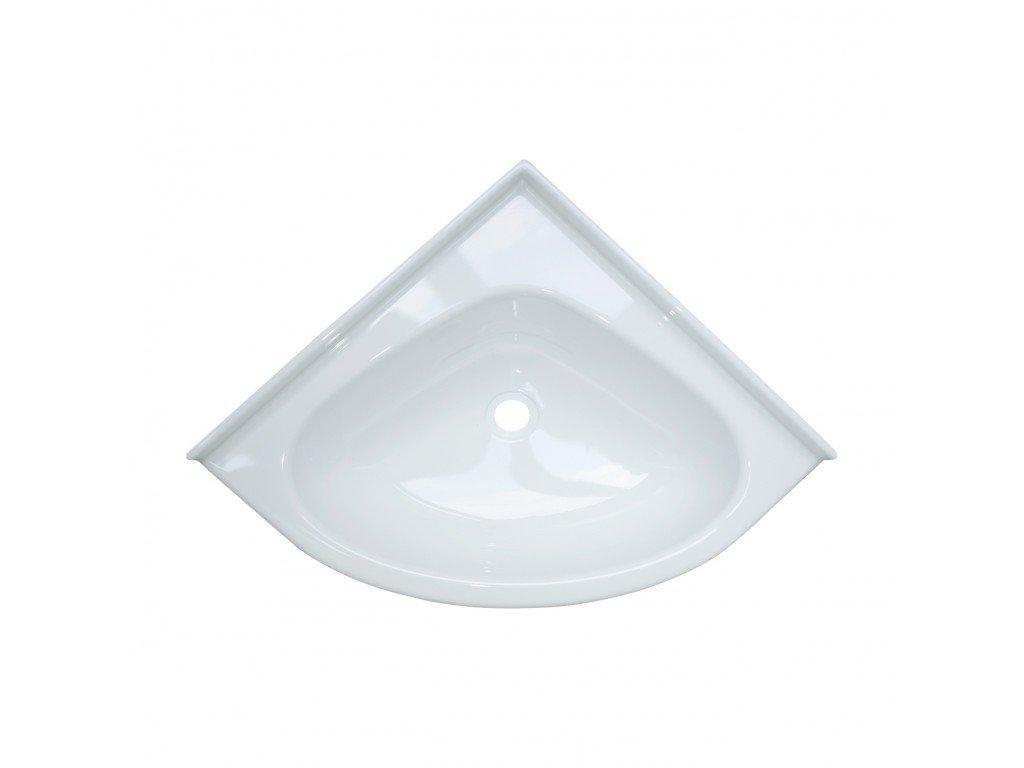 Vestavné rohové umyvadlo - 34,5 x 34,5 cm