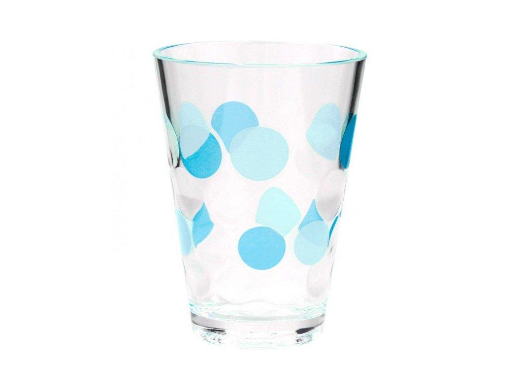 Sada 2 skleniček BUBBLE - tyrkys
