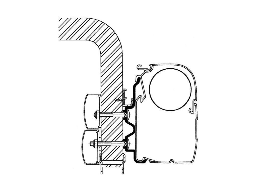 Thule Hymer adaptér pro markýzy 2016 - 4,5 m