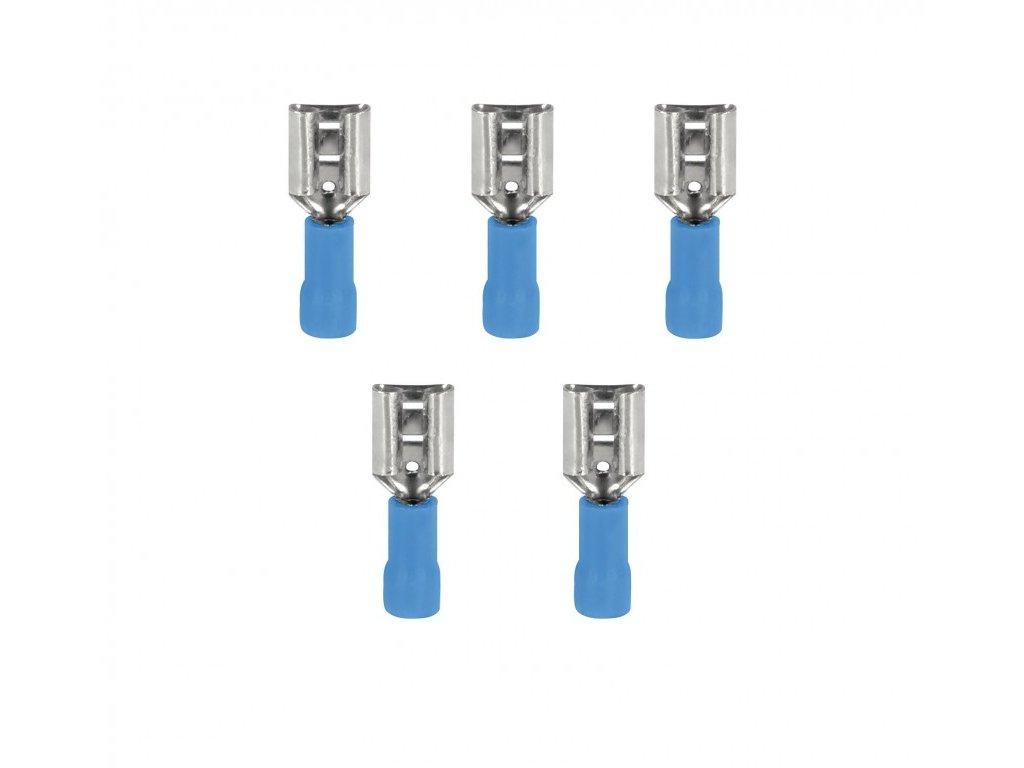 InnTec Kabelové konektory FAST-ON modrá 6,3 mm (Sada 5 kusů)
