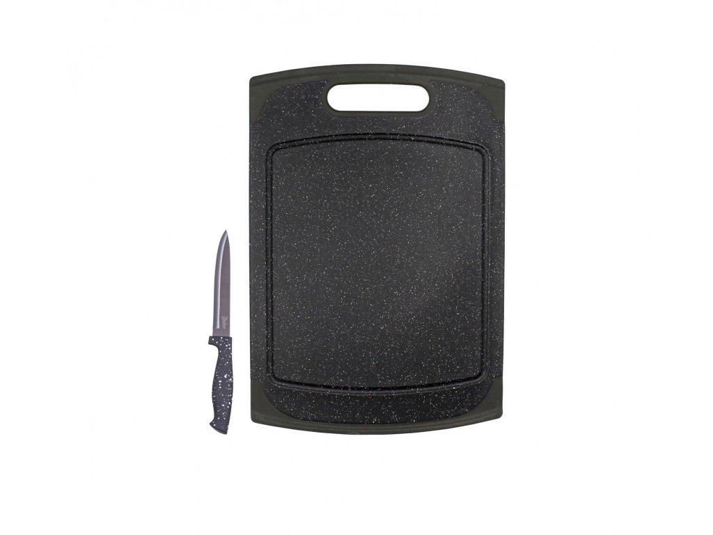 Steuber Žulové prkénko 29x20 cm vč. nože