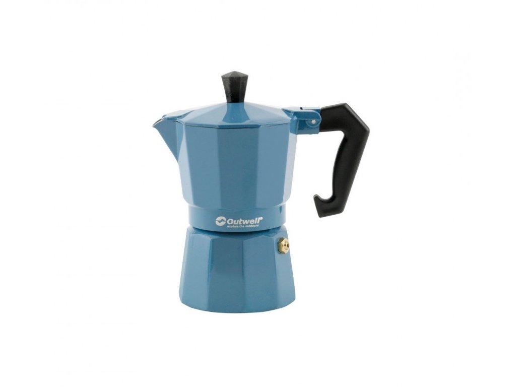 Outwell espresso konvička Manley modrá vel. L