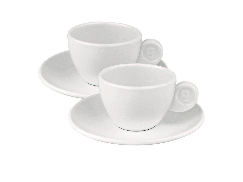 Gimex sada 2 šálků na espresso - bílá