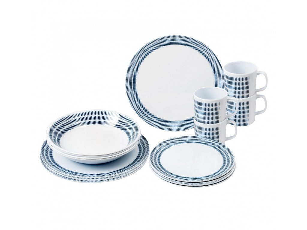 Brunner 16-dílná sada melaminového nádobí Bluebay