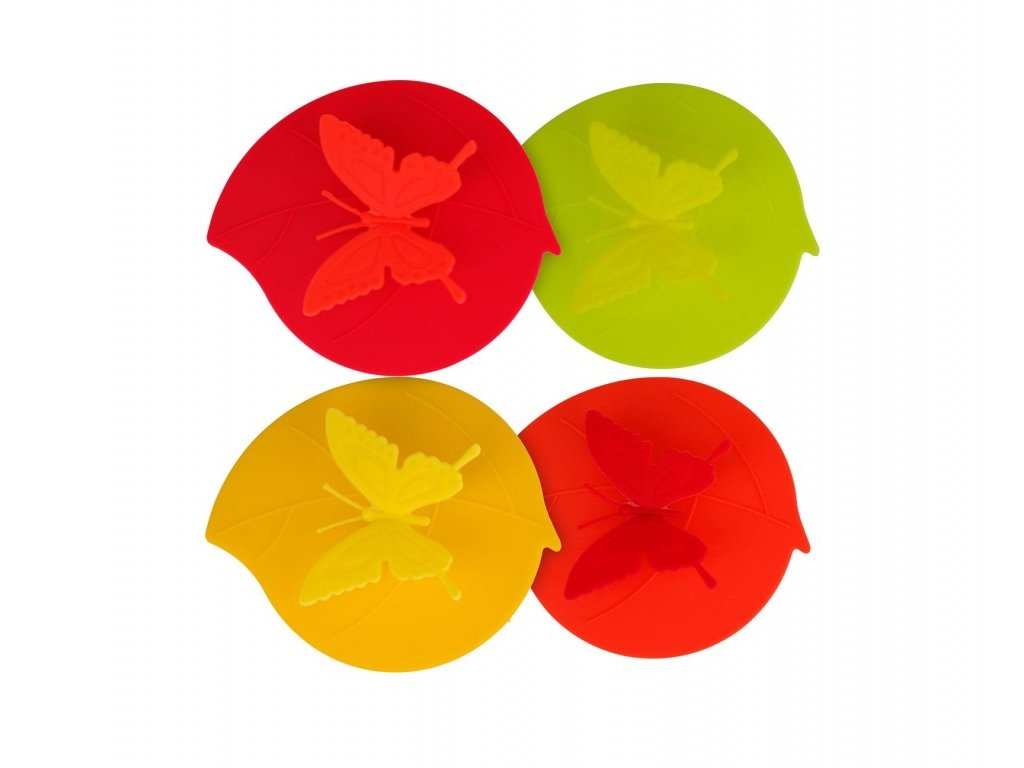 Gimex silikonové krytky na sklenice Butterfly 4 ks
