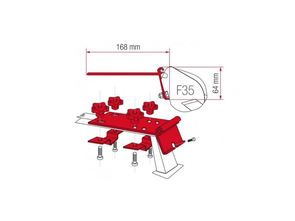 Kit na příčníky pro markýzu F35 Fiamma Kit Standard