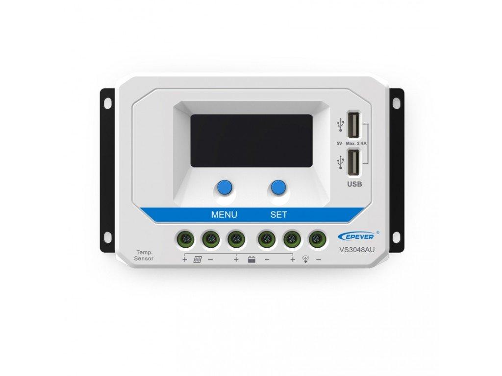 PWM solární regulátor EPsolar 10A 12/24V s LCD displejem série VS