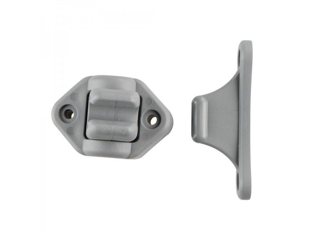 Držák dveří, pohyblivý 2dílný - šedý