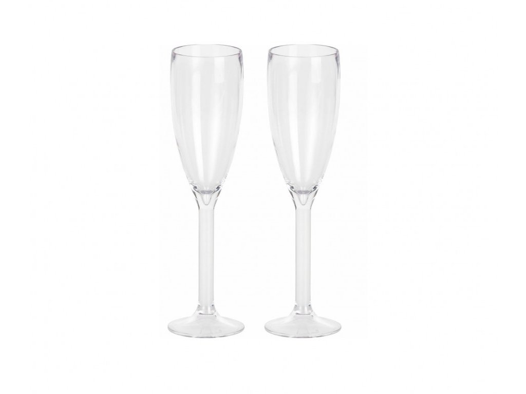 Berger Sada plastových skleniček na sekt 2 kusy