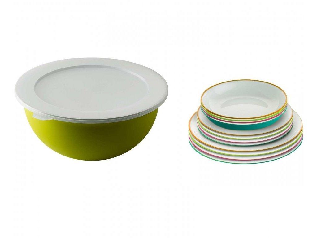 14-ti dílná sada talířů a mísy Berger Sanaliving