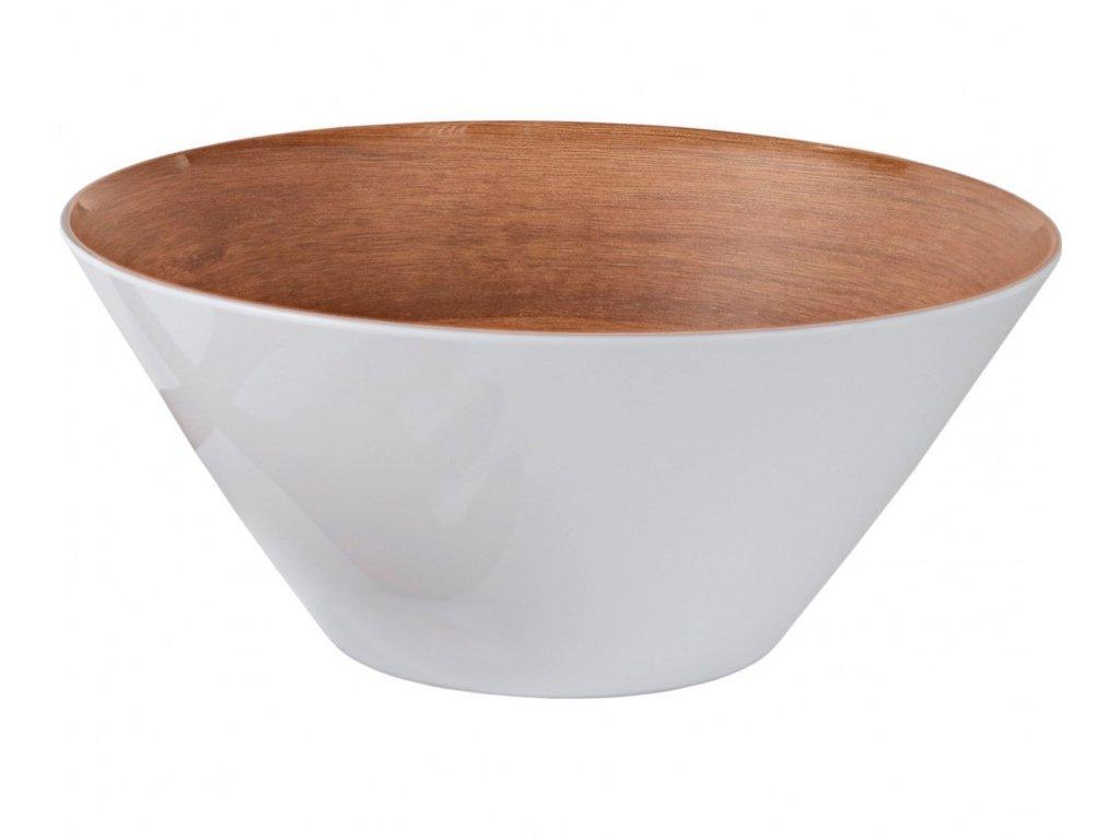 Gimex Melamin Salátová mísa dřevěného vzhledu