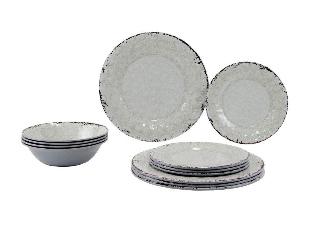 Gimex Melamin sada nádobí kameninová 12-dílná