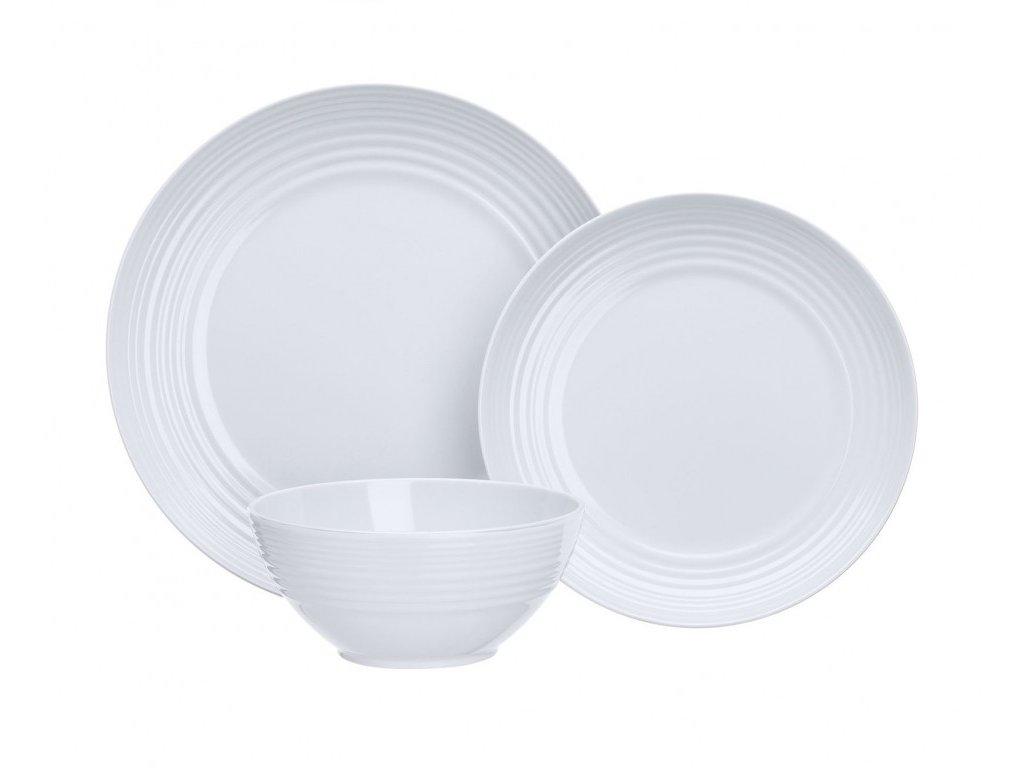 Melaminová sada nádobí Non-Slip bílá 12 ks