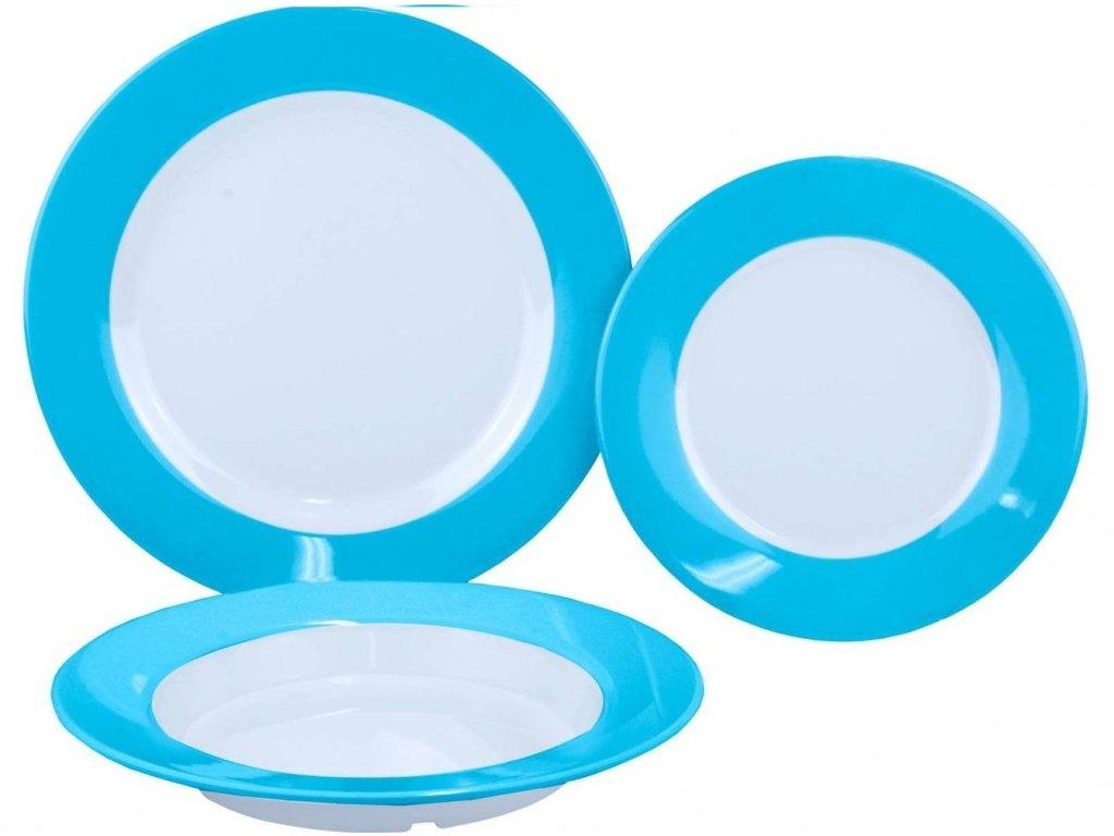 Gimex sada talířů Rainbow modrá