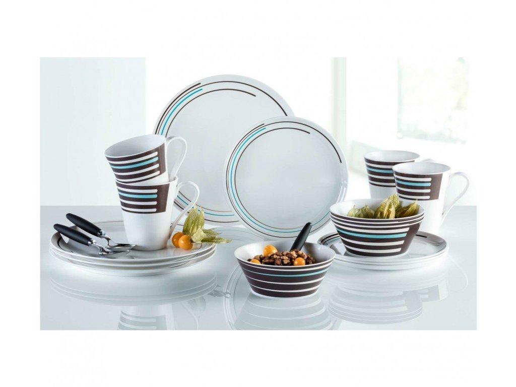 Berger 16-dílná sada melaminového nádobí Stripes