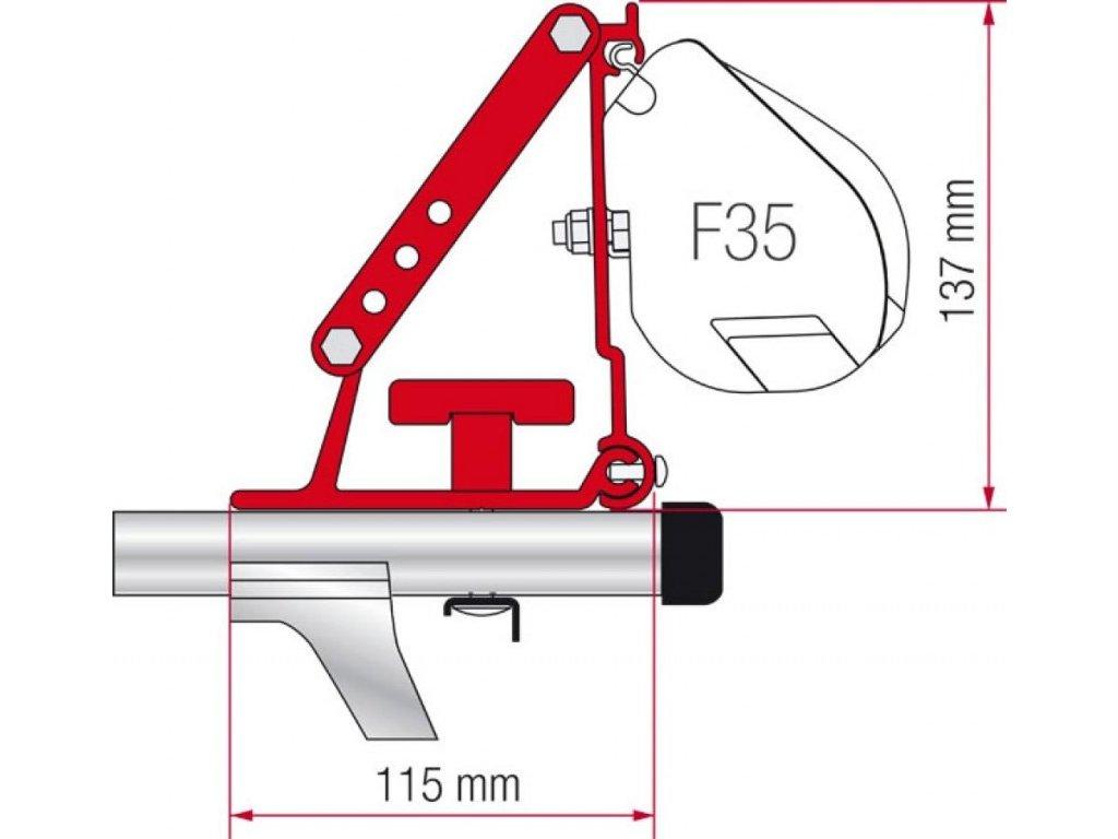 Adaptér pro markýzu Fiamma F35 na střešní nosiče