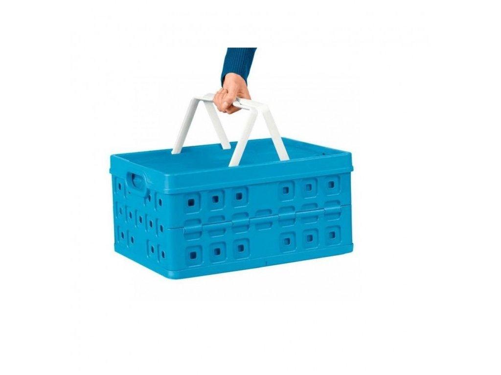 Skládací přepravka s chladicí vložkou