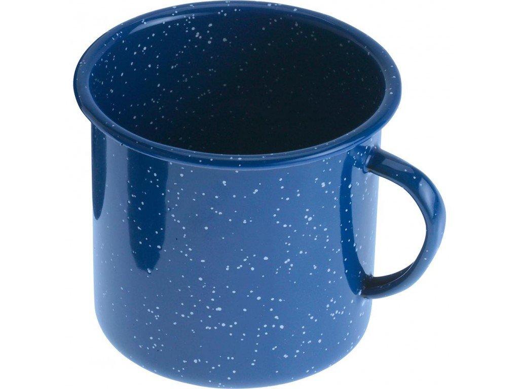 Smaltovaný plechový hrnek modrý