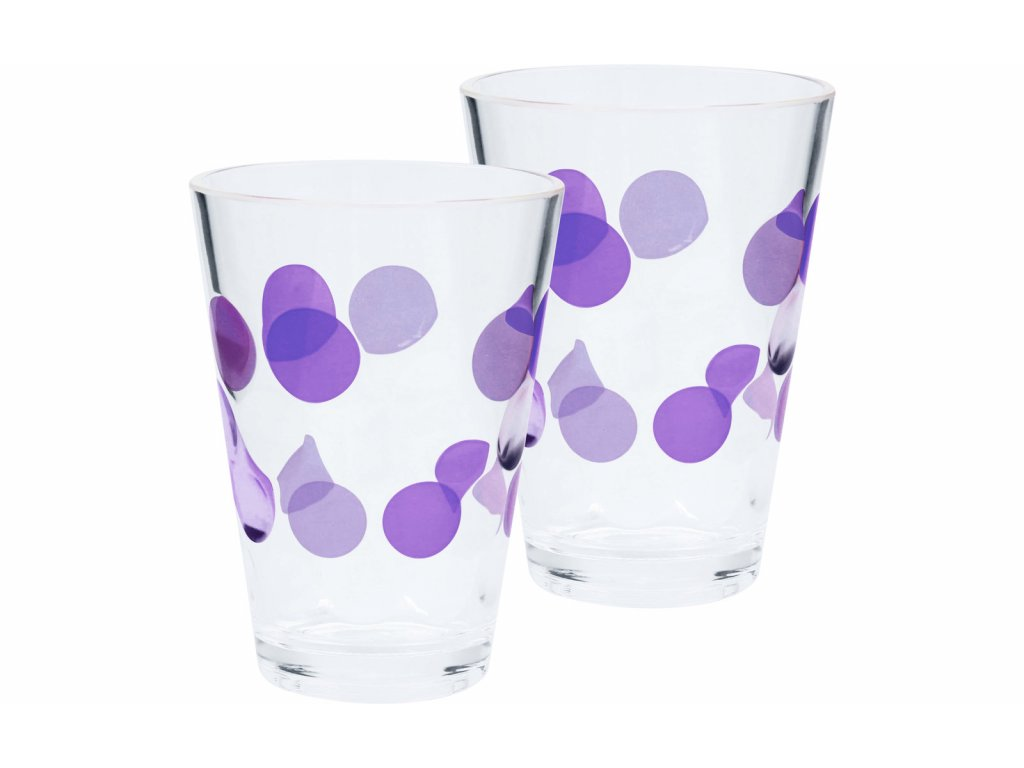 Sada 2 skleniček Bubble - ostružinová