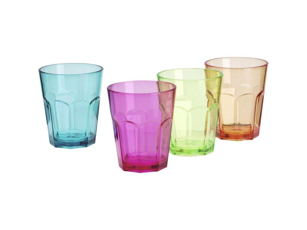 4-dílná sada barevných skleniček Soda