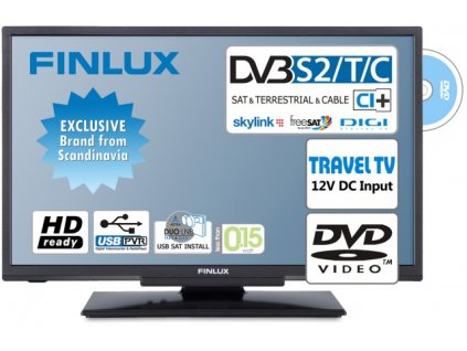 Finlux TV24FDM5660-T2 SAT DVD SMART WIFI 12V