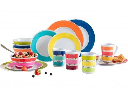 16-dílná sada melaminového nádobí Color Works