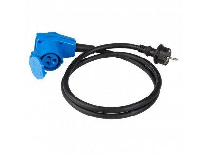 Adaptérový kabel s úhlovou CEE zásuvkou a 230V zásuvkou