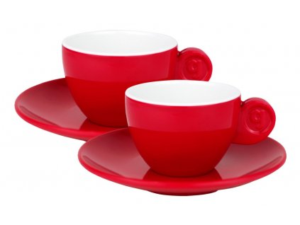 4-dílná sada espresso šálků - červená