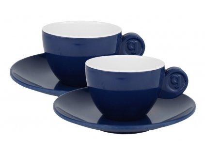 4-dílná sada espresso šálků - modrá
