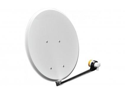 Satelitní talíř 65 cm se sklopitelným LNB ramenem