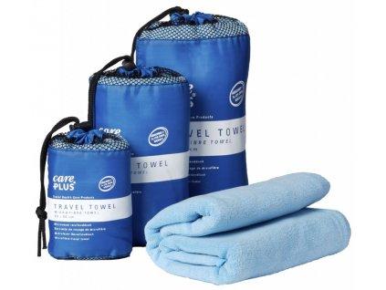 Care Plus Cestovní ručník modrý - 120 x 60cm