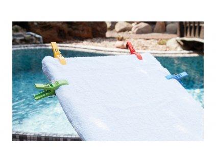 Handtuch-Halter 4er Set bunt