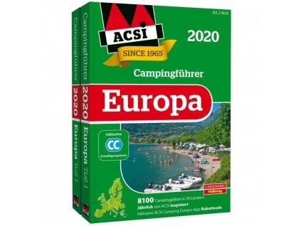 ACSI Stellplatzführer Evropa + CampingCard 2020
