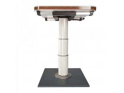 Jeden sloupový rám stolu s posunem a rotací
