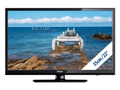 Berger Camping TV LED Fernseher 22 Zoll mit Bluetooth