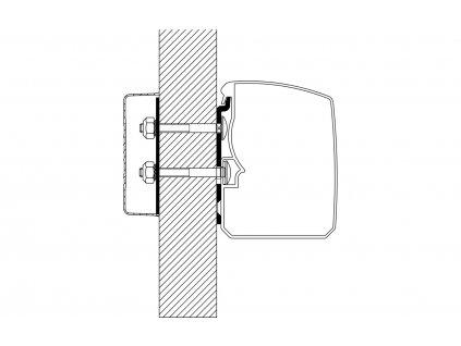 Adaptér pro markýzu Thule Omnistor 3200 Flat Wall