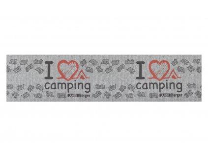 Berger koberec běhoun I love Camping